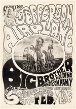 "FAMILY DOG ""A TRIBAL STOMP"" ORIGINAL PRINTING 1966 JEFFERSON AIRPLANE & BIG BROTHER CONCERT POSTER."