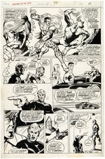 """CREATURES ON THE LOOSE"" #34 COMIC BOOK PAGE ORIGINAL ART BY GEORGE PÉREZ."