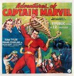 """ADVENTURES OF CAPTAIN MARVEL"" LINEN-MOUNTED 1941 REPUBLIC MOVIE SERIAL SIX SHEET POSTER."