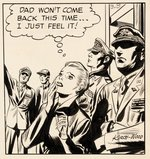 """SKY MASTERS OF THE SPACE FORCE"" ORIGINAL ART FOR DAILY STRIP BY JACK KIRBY & WALLY WOOD."