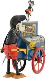 """MICKEY MOUSE ORGAN GRINDER"" HURDY GURDY BOXED WIND-UP TOY."
