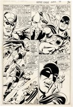 """JUSTICE LEAGUE OF AMERICA"" #77 COMICS BOOK PAGE ART BY DICK DILLIN."