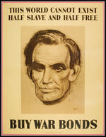 "WORLD WAR II ""BUY WAR BONDS"" POSTER WITH LINCOLN."