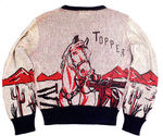 """HOPALONG CASSIDY AND TOPPER"" WOVEN SWEATER IN BOX."