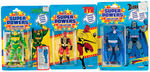 """SUPER POWERS"" LOT OF ONE DOZEN FIGURES, 11 CARDED INCLUDING MISTER MIRACLE."