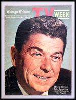 REAGAN COVER AND ARTICLE 1965 TV WEEK.