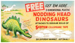 """NODDING HEAD DINOSAURS"" PREMIUM  PROTOTYPE STORE SIGN ORIGINAL ART."
