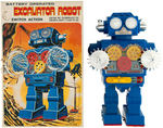 """EXCAVATOR ROBOT"" BOXED BATTERY-OPERATED ROBOT TOY."