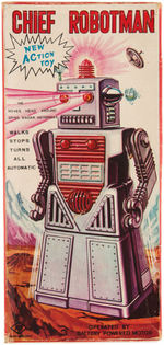 """CHIEF ROBOTMAN"" BOXED BATTERY-OPERATED ROBOT TOY."