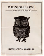 """MIDNIGHT OWL"" BOXED TRANSISTOR RADIO."