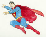 FRANK FRAZETTA SUPERMAN SPECIALTY ORIGINAL ART.
