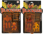 """BLACKSTAR"" CARDED ACTION FIGURE LOT WITH ""WARLOCK"" MOUNT."