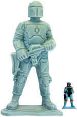 "STAR WARS ""MICRO COLLECTION: BESPIN FREEZE CHAMBER"" BOBA FETT UNPAINTED 4-UP HARDCOPY PROTOTYPE."