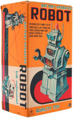 """ROBOT"" BATTERY-OPERATED DIRECTIONAL ROBOT BOXED TOY."