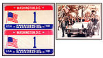 "REAGAN'S PERSONAL NUMBER ""1"" LICENSE PLATES OFF OF HIS 1981 INAUGURAL LIMO."