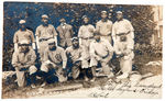 "NEGRO LEAGUE CUBAN X-GIANTS REAL PHOTO POSTCARD WITH GRANT ""HOME RUN"" JOHNSON."