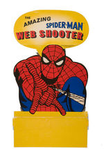 """THE AMAZING SPIDER-MAN WEB SHOOTER"" TOY AND DISPLAY SIGN."
