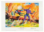 FRED FREDERICKS THE PHANTOM AND MANDRAKE ORIGINAL PAINTING AND MATCHING PRINT.