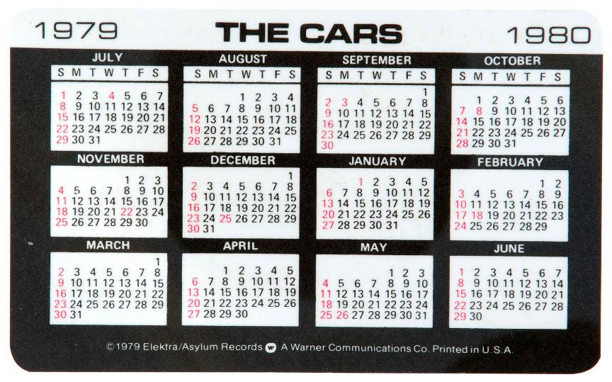 Hake S Vargas Candy O 1979 1980 Record Promo Calendar Card