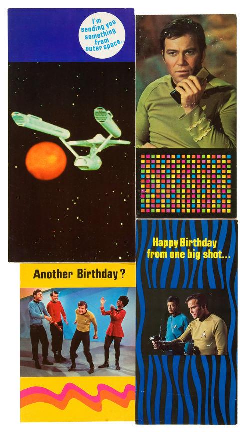 Hakes Star Trek Birthdaygreeting Cards
