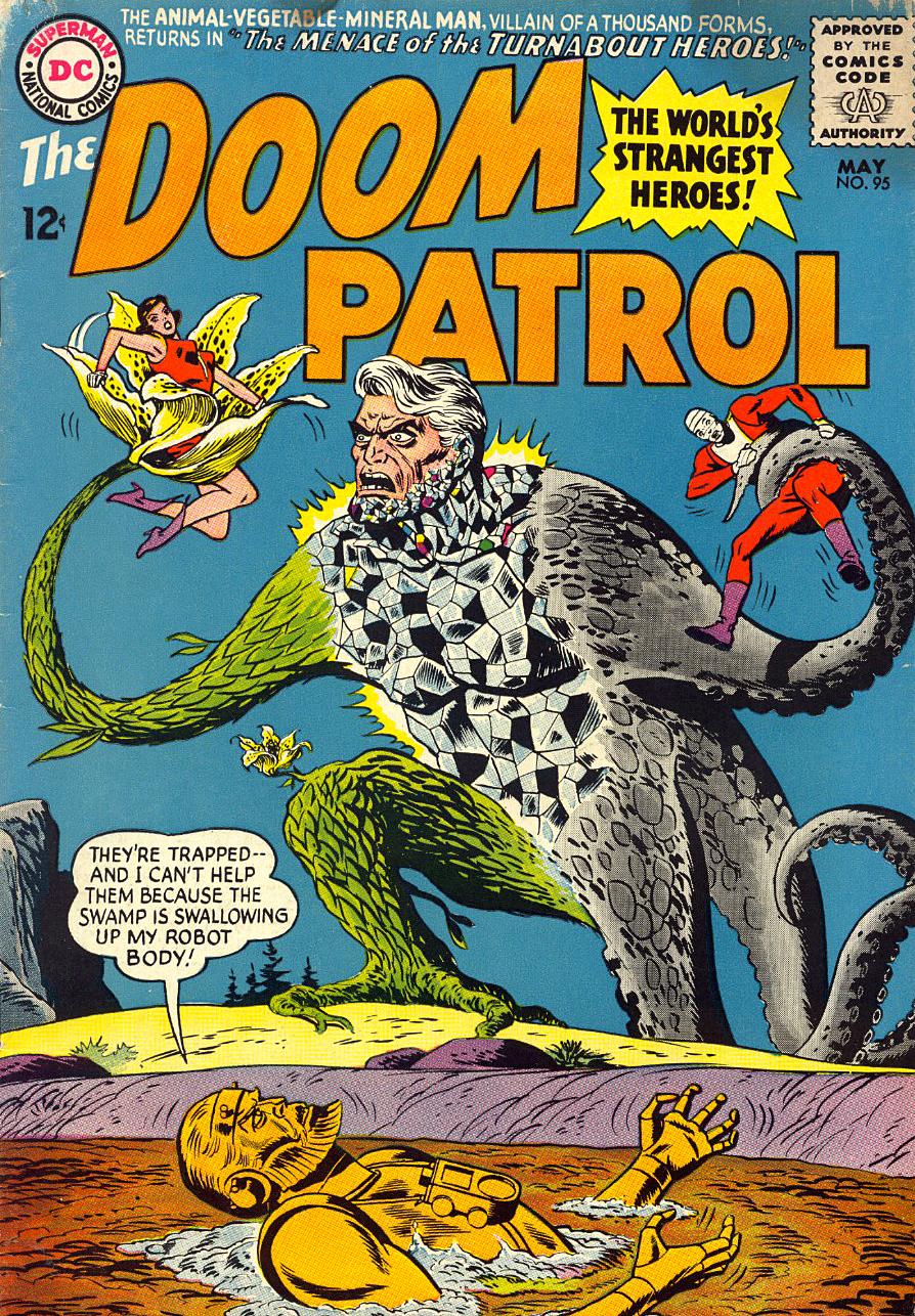 Hake S Doom Patrol 95 Silver Age Comic Book Cover Original Art
