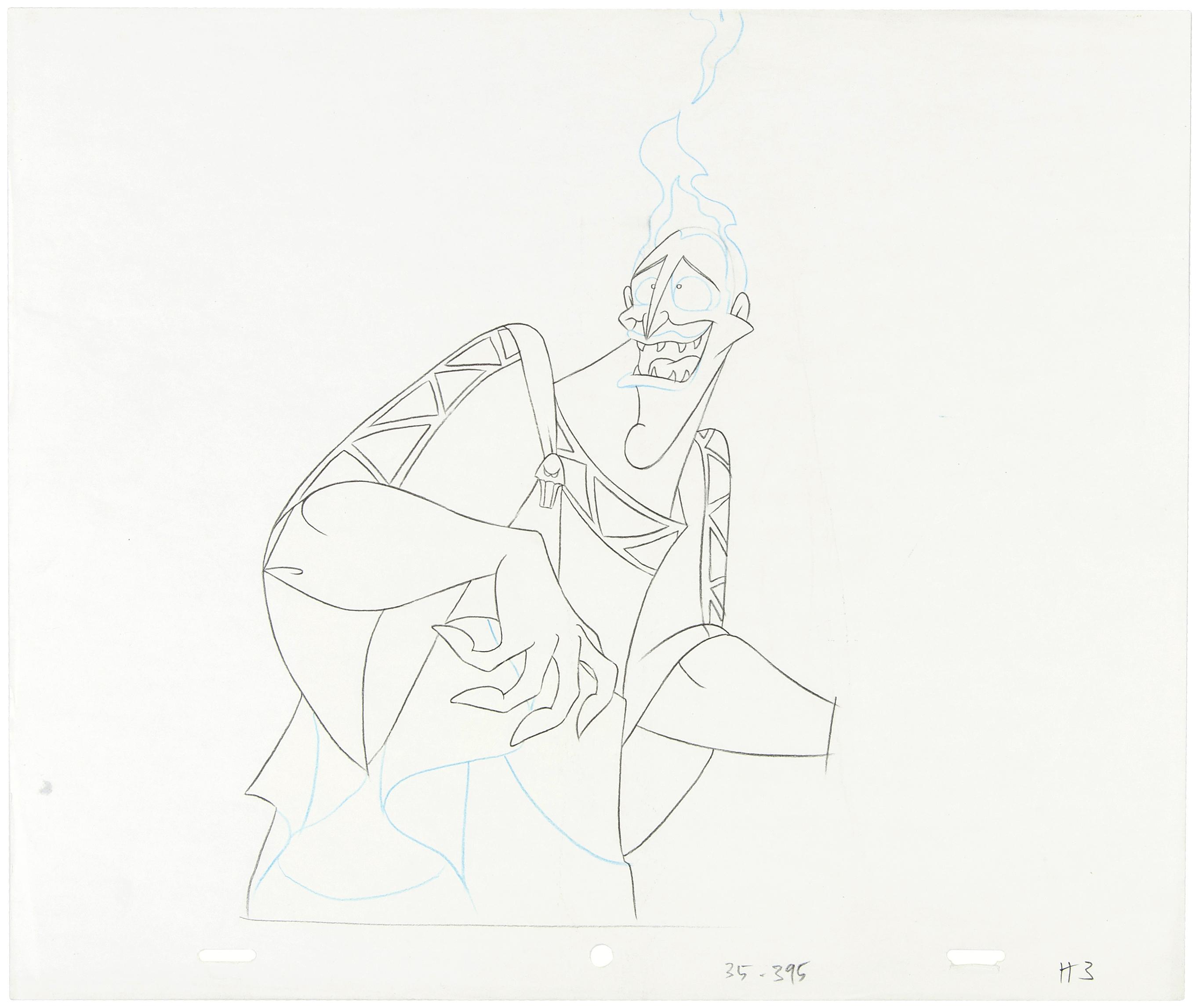 Hakes Hercules Hades Original Animation Celproduction Drawing