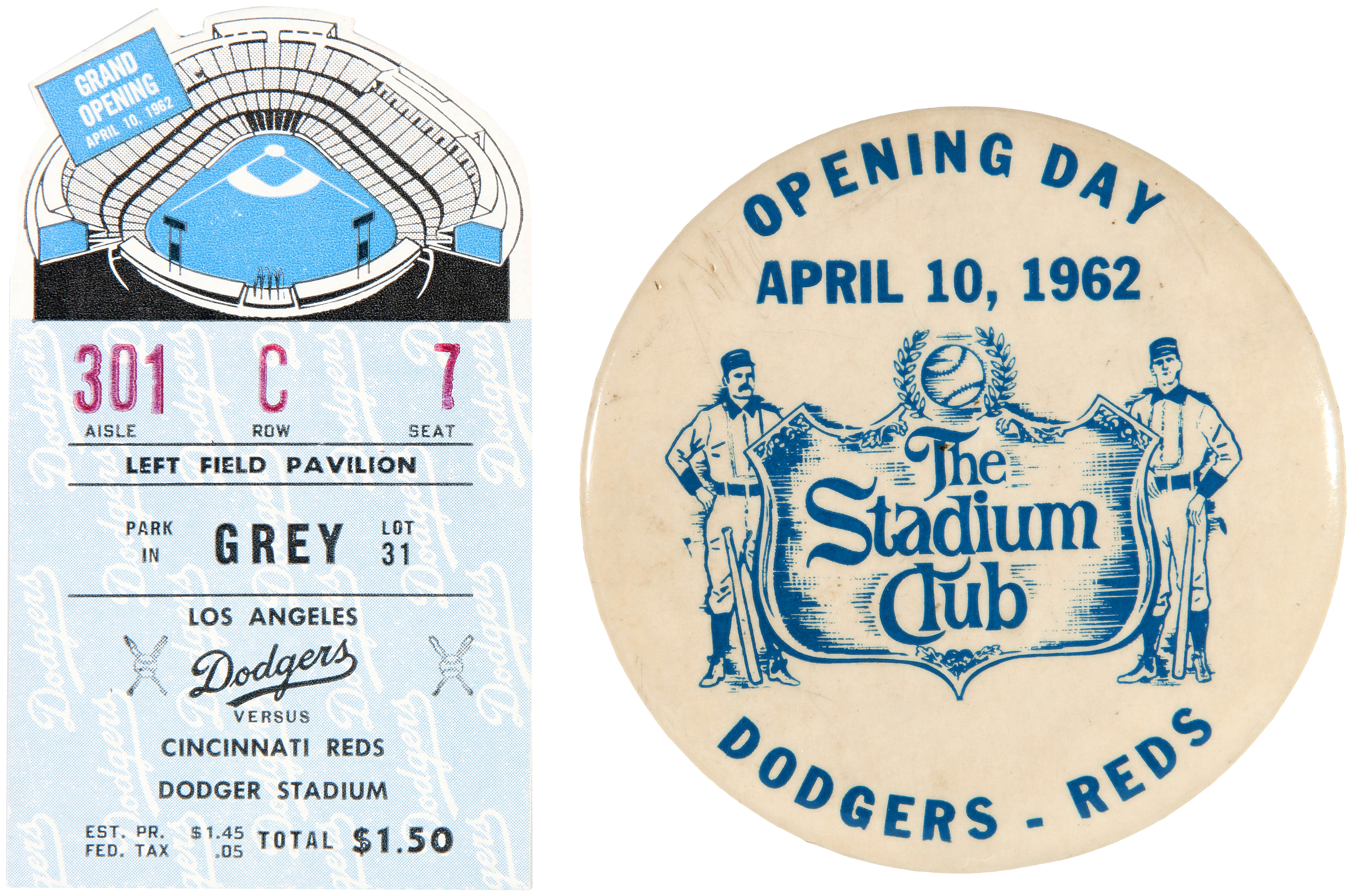 Hake S Dodger Stadium 1962 Opening Day Lot