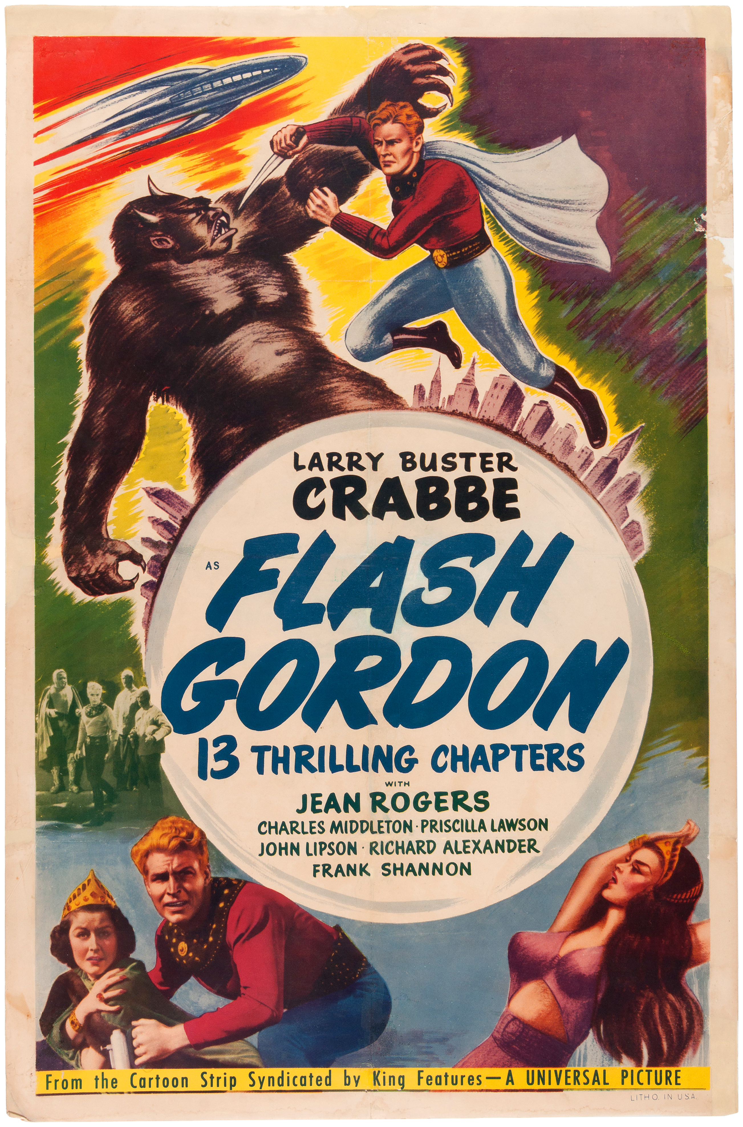 Hakes Buster Crabbe Flash Gordon King Of The Congo Movie Flasher Flaser Sen 12 Volt Universal Auctions