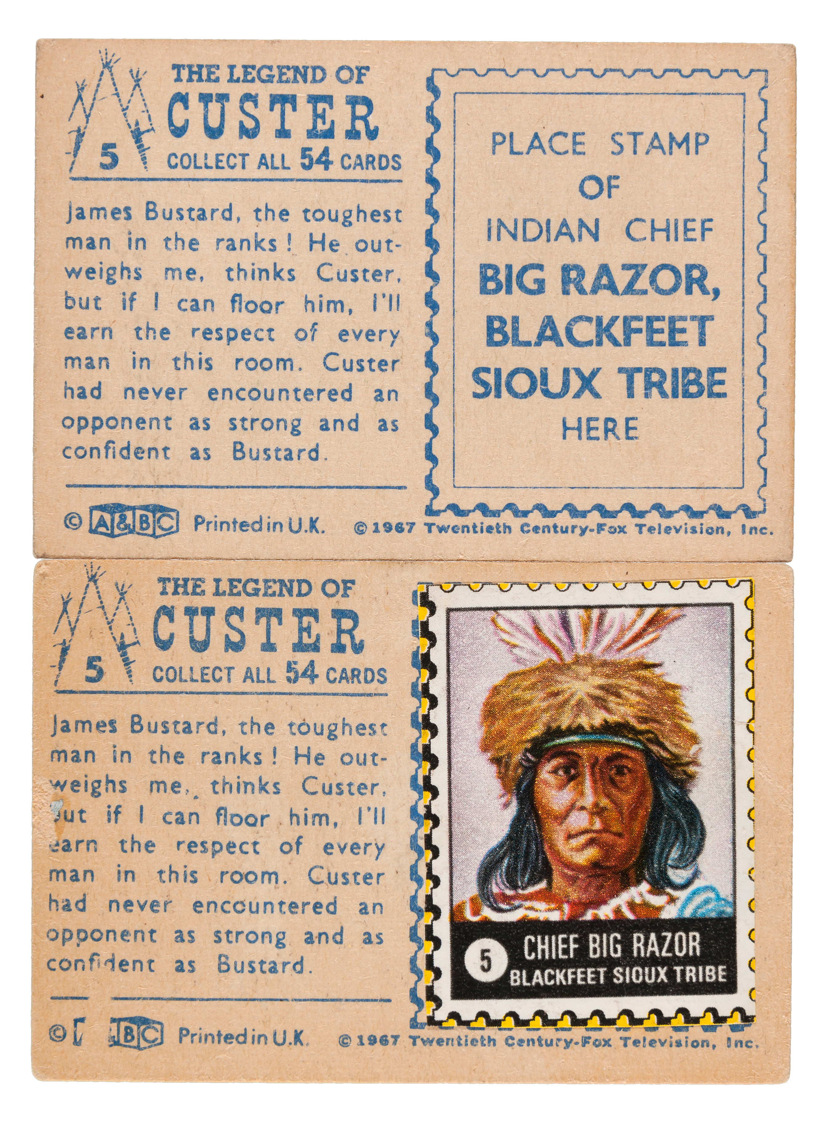 A/&BC-THE LEGEND OF CUSTER-#29 QUALITY CARD!!!
