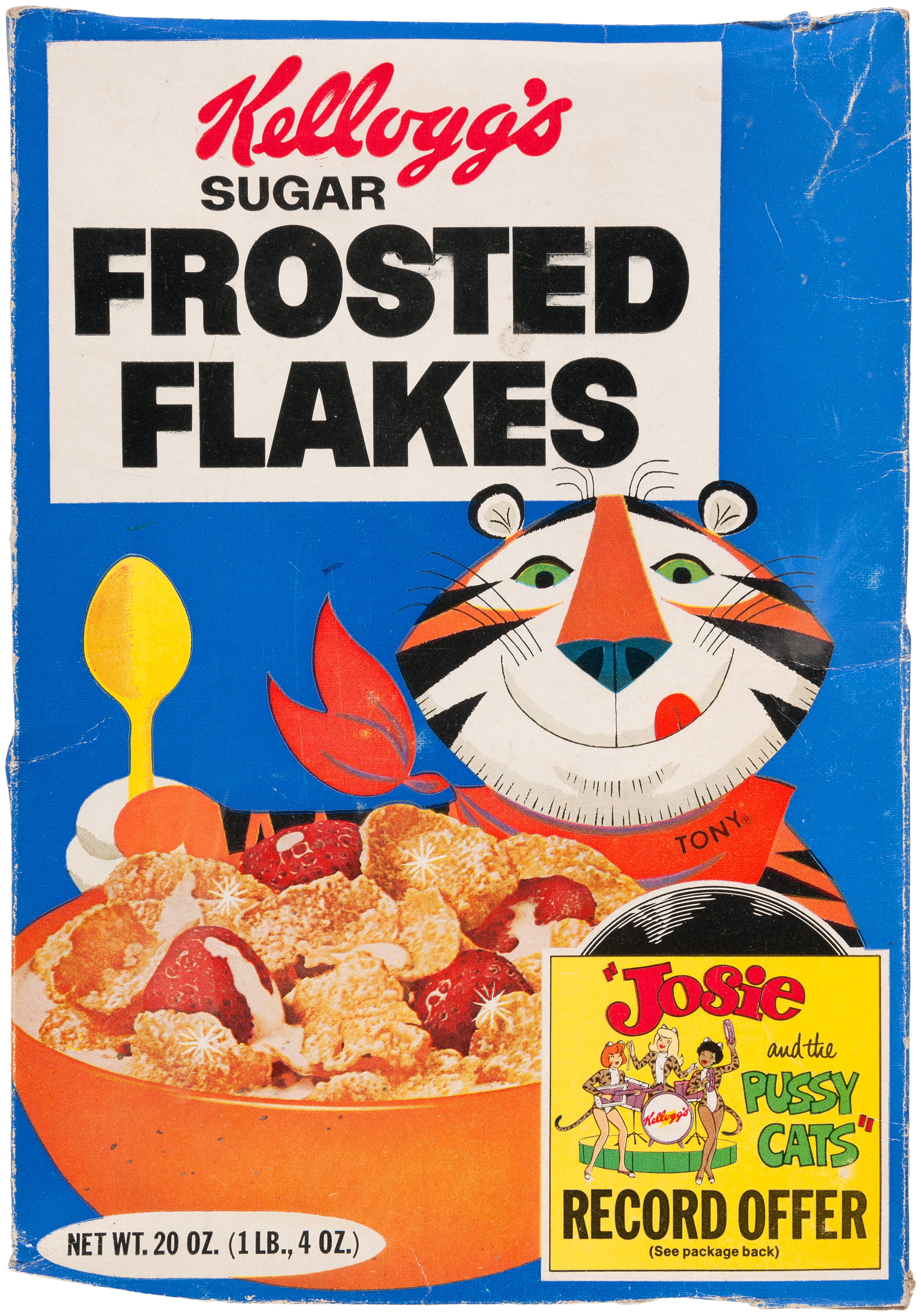Hakes Kelloggs Frosted Flakes Cereal Box With Josie And The Corn Deal Auctions