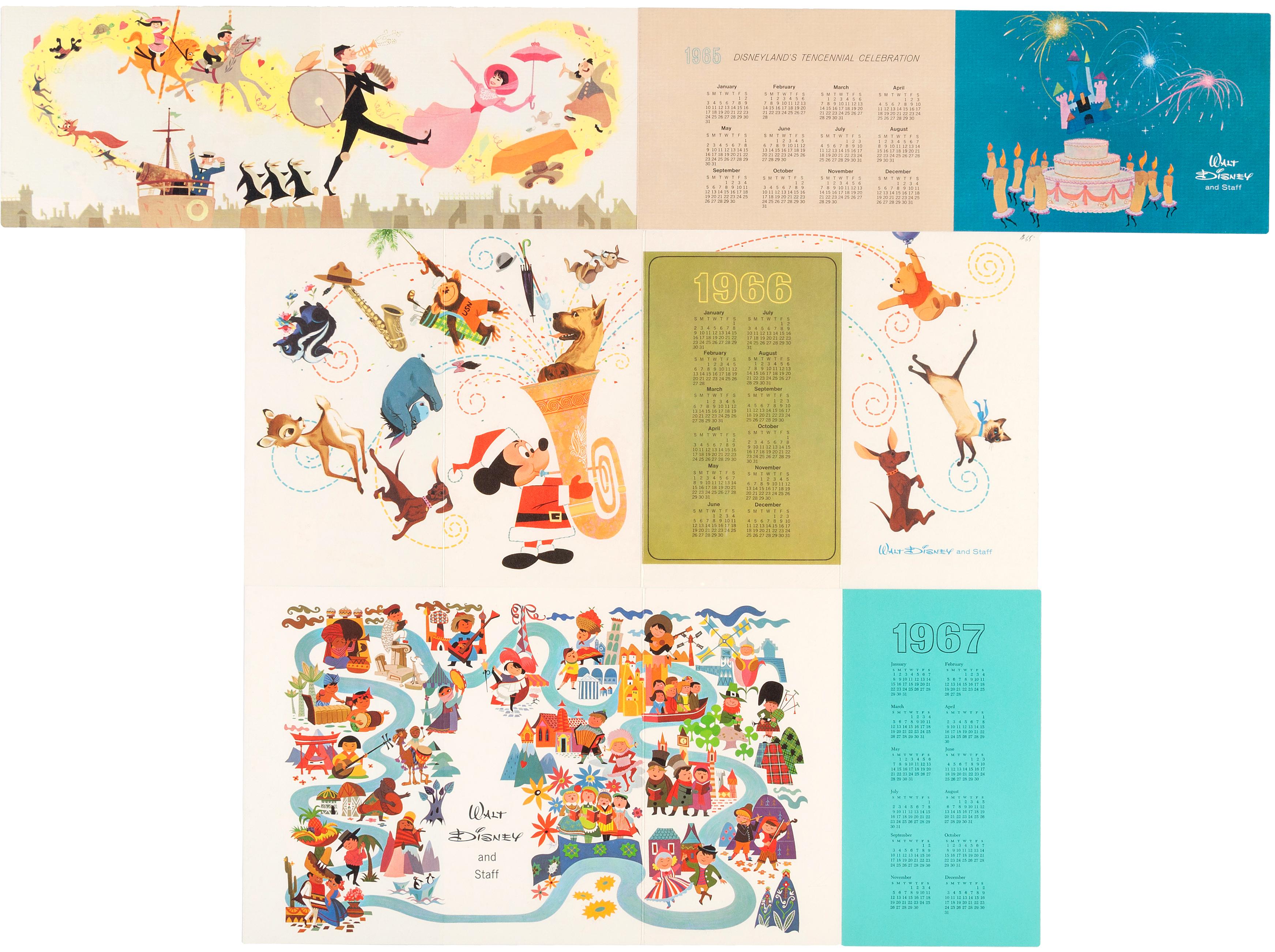 Hake\'s - WALT DISNEY STUDIO CHRISTMAS CARDS FOR 1960-1969.