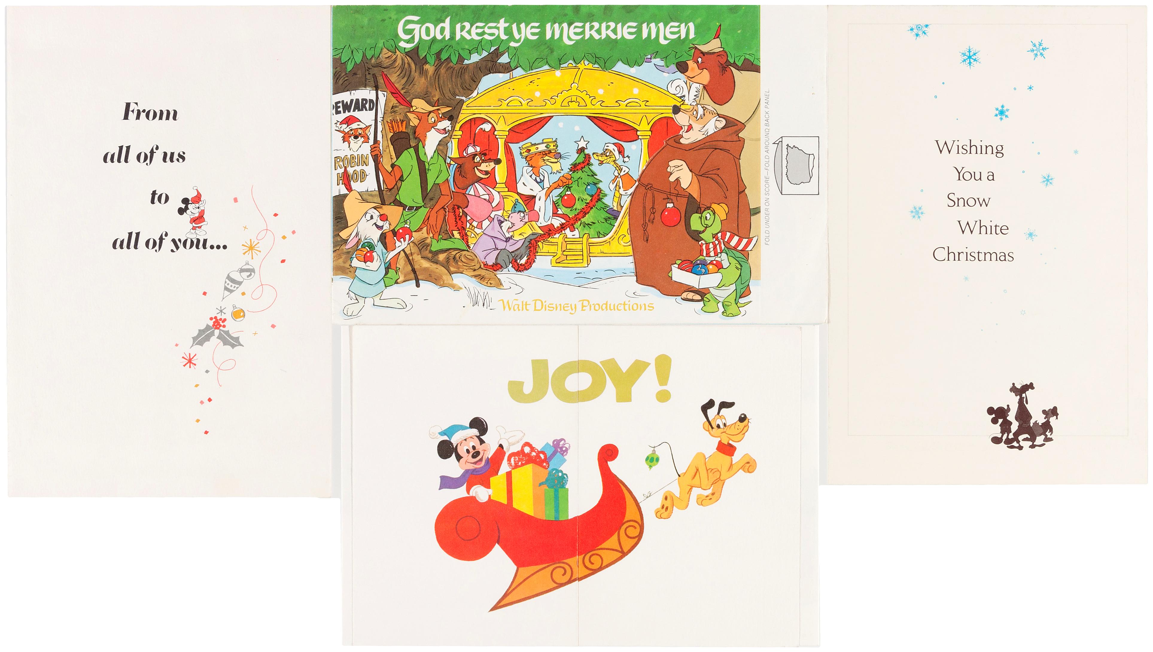 Hake\'s - WALT DISNEY STUDIO CHRISTMAS CARDS FOR 1970-1989.
