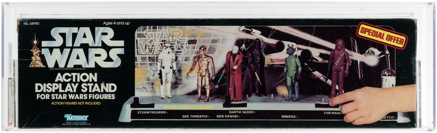 Hake's STAR WARS ACTION DISPLAY STAND AFA 40 NM Adorable Star Wars Action Figure Display Stand