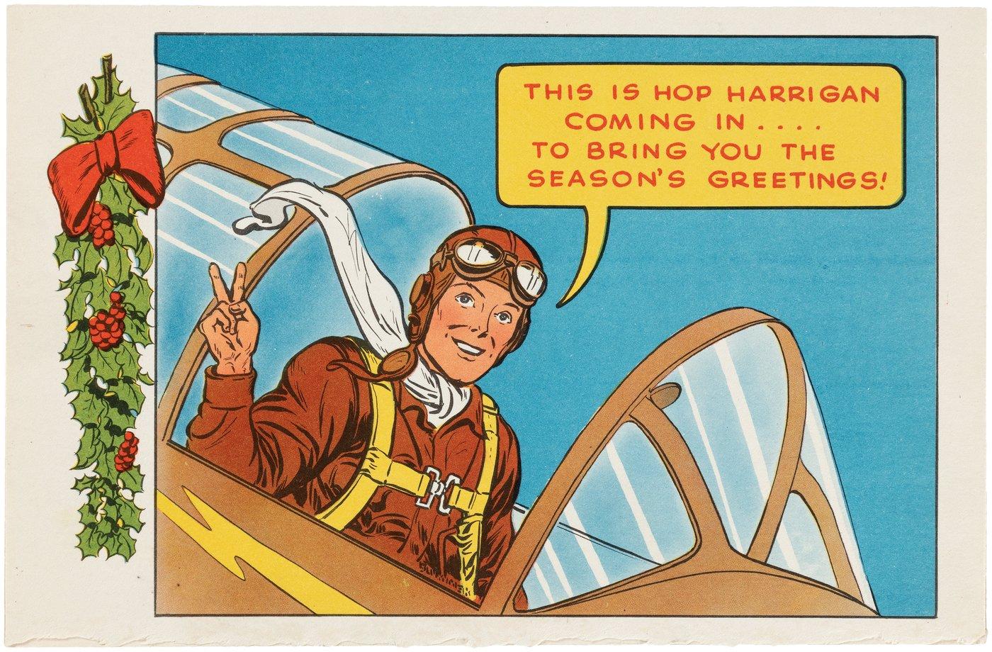 Lil Ron Ron Christmas.Hake S Hop Harrigan Promotional Dc Comics Christmas Card