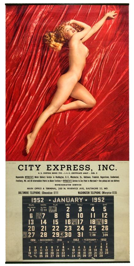 Marilyn monroe nude calendar pics
