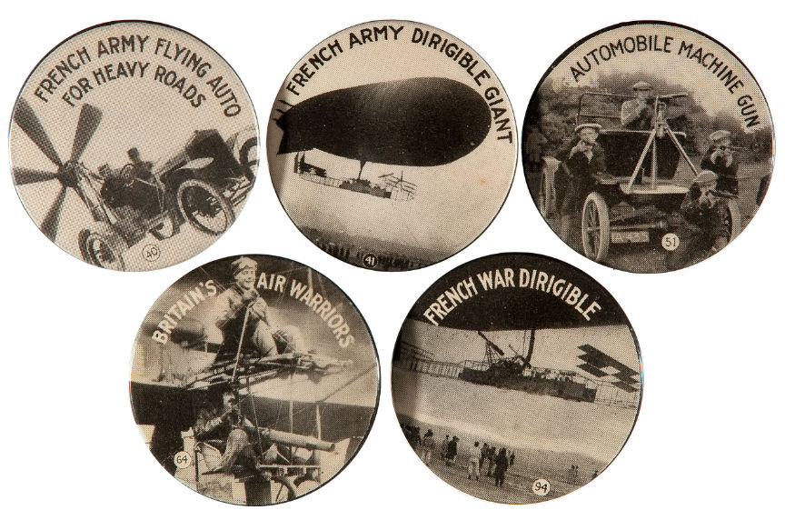 Hake's - AMAZING AND RARE SET OF 98 WORLD WAR I PICTURE BUTTONS BY