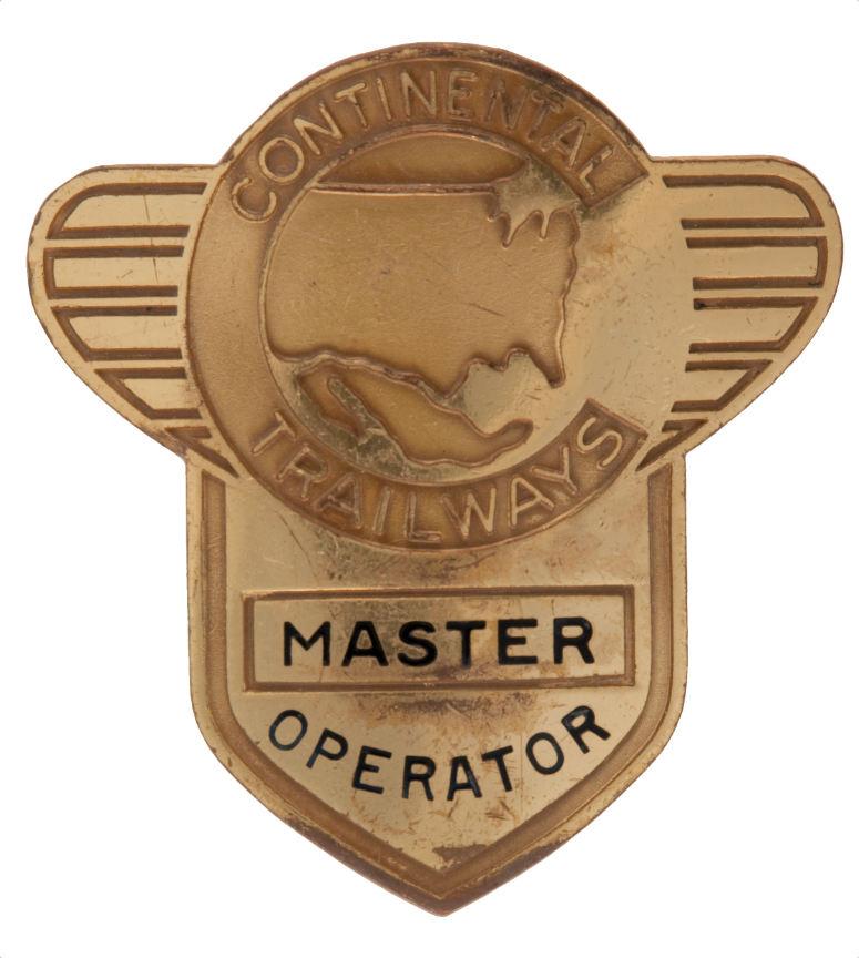 Trailways Four Driver Metal Badges Plus Insignia