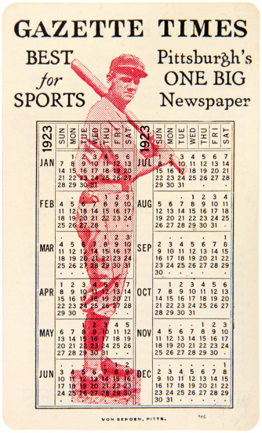 Hakes Three Celluloid Baseball Schedule Cards From The 1920s
