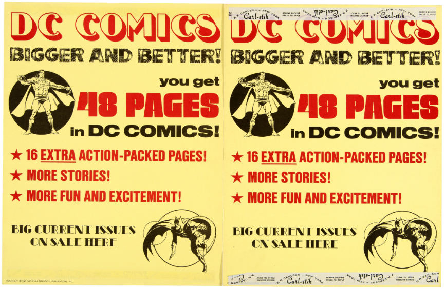 Hake's - DC COMICS SURVEY CLUB EXTENSIVE LOT INCLUDING STORE SIGNS