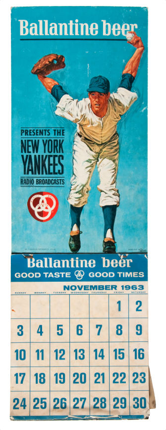 Hake S Ballantine Beer Presents The New York Yankees 1963