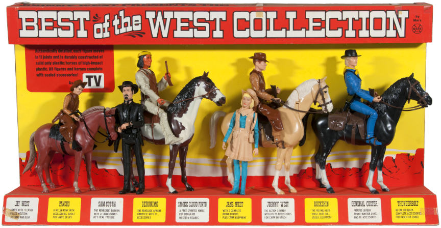 NEW BRONZE PISTOL Marx Johnny West Best Of The West Horse Garrett Cobra Goode