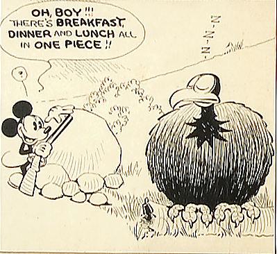 Hakes Mickey Mouse Daily Strip Original Art By Ub Iwerks